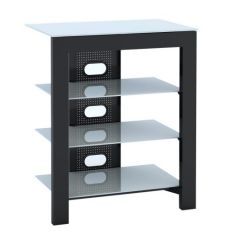 De Conti ARCAXL Large 4 Shelf  TV/ HI-FI Stand in Black/White Finish