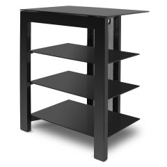 De Conti ARCAXL Large 4 Shelf  TV/ HI-FI Stand in Black Finish