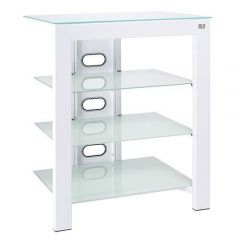 De Conti ARCAXL Large 4 Shelf  TV/ HI-FI Stand in White Finish