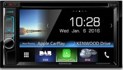 Kenwood DDX-8016DABS Double DIN CD/DVD/USB Apple CarPlay Bluetooth & DAB Tuner