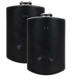 Elipson Rain 6 Weatherproof Outdoor Speakers in Black