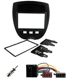 Citroen C1 2005 - 2014 Double Din Stereo Fascia / Wiring Harness/ Antenna Fitting Kit
