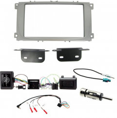 Ford S-Max, Double Din Steering Wheel Interface Fascia Loom Antenna Kit
