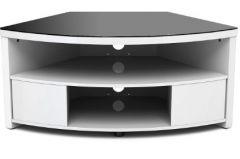 Gecko Impro IMP900-GW Corner TV Stand in Gloss White