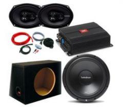 """JBL Stage A6004 Amp and Rockford R2D2-10 10"""" 500W Sub R169X3 - 6""""x9""""  package deal"""