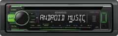 Kenwood KDC-110UG CD/MP3/WMA USB/Auxiliary Input ANDROID MUSIC CONTROL Green Illumination