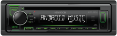 Kenwood KDC-120UG CD/MP3/WMA USB/Auxiliary Input ANDROID MUSIC CONTROL Green Illumination