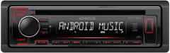 Kenwood KDC-120UR CD/MP3/WMA USB/Auxiliary Input ANDROID MUSIC CONTROL Red Illumination