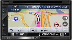 Kenwood DNX5190DABS Double DIN CD/DVD Navigation Apple CarPlay Android Auto DAB Radio W/ DAB aerial