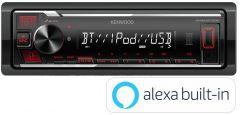 Kenwood KMM-BT206 Mechless Amazon Alexa iPhone Android Bluetooth USB