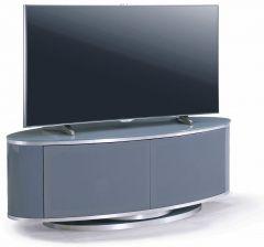 MDA Designs Luna Grey Slate Oval TV Cabinet