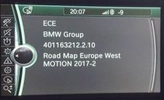 BMW Motion 2020-1 Navigation Map Update Package