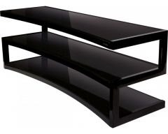 Norstone ESSE Curve Furniture 1500mm Black with Black Glass