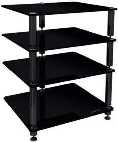 Norstone Bergen 2 4 Shelf for Hi-Fi Systems in Glossy Black