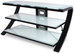 De Conti SETTE B  Security Glass Stand in Black and White