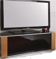 MDA Designs Sirius 1200 Black and Oak / Walnut interchangeable panels  TV Cabinet