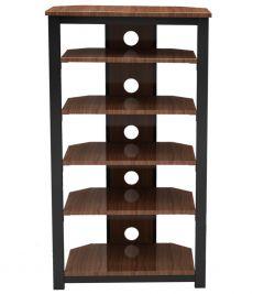 Gecko Tower TOW600 - 6 shelf TV/ HI-FI Stand in walnut finish