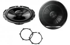 Seat Ibiza 2012 Onwards Pioneer TS-G1720F 16.5cm Front or Rear Door Car Speakers Upgrade Kit