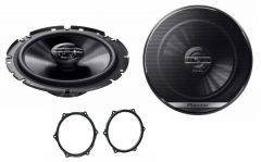 Seat Ibiza 6J 2008 - 2016 Pioneer TS-G1720F 16.5cm Front Doors Car Speakers Upgrade Kit