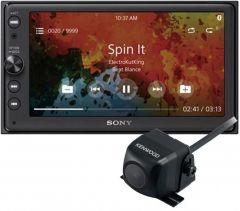 """Sony XAV-AX100 Double Din 6.4"""" touchscreen Bluetooth Apple CarPlay Android Auto w/ Reverse Camera"""